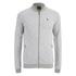 Jack & Jones Men's Originals Lock Baseball Zip Through Sweatshirt - Light Grey Marl: Image 1