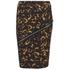 McQ Alexander McQueen Women's Zip Contour Skirt - Tortoises: Image 1