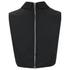 McQ Alexander McQueen Women's Collar Party Top - Black: Image 4