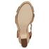 Dune Women's Iyla Leather Platform Heeled Sandals - Tan: Image 5