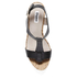 Dune Women's Kier Di Leather Wedged Sandals - Black: Image 3