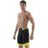 Santini BCool Aero Bib Shorts - Black/Yellow: Image 1