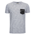 Brave Soul Men's Exit Zip Pocket T-Shirt - Light Grey: Image 1