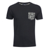 Brave Soul Men's Pulp Camo Pocket T-Shirt - Black: Image 1