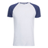 Brave Soul Men's Baptist Raglan Sleeve T-Shirt - White/Ink Blue: Image 1