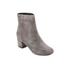 Dune Women's Pebble Mid Heeled Suede Boots - Grey: Image 2