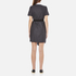 Carven Women's Shirt Wrap Dress - Grey: Image 3