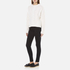 Carven Women's Cable Knit Cropped Jumper - Cream: Image 4
