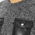 Carven Women's Leather Pocket Front Jumper - Black/White: Image 5