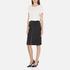 Carven Women's Full Zip Pencil Skirt - Black: Image 4