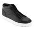 ETQ. Men's High Top 1 Rubberized Leather Trainers - Black: Image 2