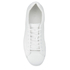 ETQ. Men's Low Top 4 Leather Trainers - White: Image 3