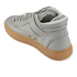ETQ. Men's Mid Top 2 Rubberized Leather Trainers - Alloy/Gum: Image 4