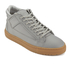 ETQ. Men's Mid Top 2 Rubberized Leather Trainers - Alloy/Gum: Image 2