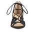 MICHAEL MICHAEL KORS Women's Mirabel Leather Mid Heel Sandals - Black: Image 4