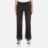 MSGM Women's Fringe Bottom Jeans - Black: Image 1