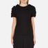 MSGM Women's Frill Sleeve T-Shirt - Black: Image 1