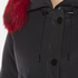 KENZO Women's Removable Red Fur Lined Long Parka - Black: Image 5