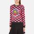 KENZO Women's All Over Print Nagai Tanami Flower Logo Sweatshirt - Red: Image 2