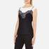 Boutique Moschino Women's Printed Lace Top - Off White/Black: Image 2