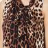 Boutique Moschino Women's Tie Neck Top - Leopard: Image 5