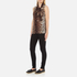 Boutique Moschino Women's Tie Neck Top - Leopard: Image 4