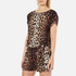Boutique Moschino Women's Tie Waist Playsuit - Leopard: Image 2