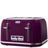 Breville VTT634 Impressions 4 Slice Toaster - Damson: Image 1