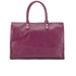 Lulu Guinness Women's Daphne Medium Smooth Leather Tote - Cassis: Image 6