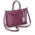 Lulu Guinness Women's Frances Medium Tote Bag with Lip Charm - Cassis: Image 3