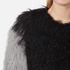 Charlotte Simone Women's Classic Fuzz Jacket - Black/Charcoal Grey - S/M: Image 5