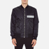 MSGM Men's Bomber Jacket with Reflective Strip - Black: Image 1