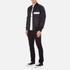 MSGM Men's Bomber Jacket with Reflective Strip - Black: Image 4