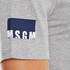 MSGM Men's Bottom Panel Logo T-Shirt - Grey: Image 6