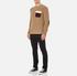 MSGM Men's Contrast Pocket Knitted Jumper - Brown: Image 4