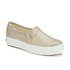 Keds Women's Triple Metallic Deckers Canvas Slip On Trainers - Gold: Image 2