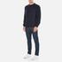 Barbour Heritage Men's Standards Sweatshirt - Navy: Image 4