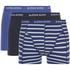 Bjorn Borg Men's 3 Pack Stripe Detail Boxer Shorts - Sodalite Blue: Image 1