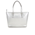 MICHAEL MICHAEL KORS Jet Set Travel Top Zip Tote Bag - Silver: Image 6