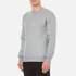 GANT Men's Embossed Crew Neck Sweatshirt - Grey Melange: Image 2