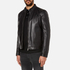 HUGO Men's Lesson Leather Biker Jacket - Black: Image 2