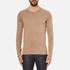HUGO Men's San Francisco Cotton Silk Cashmere Jumper - Light/Pastel Brown: Image 1