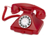 GPO Retro 1929S Classic Carrington Push Button Telephone - Red: Image 1