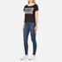 Cheap Monday Women's Had Stripe Logo T-Shirt - Black: Image 4