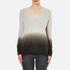 Theory Women's Adrianna Cashmere Jumper - Soft Grey/Moss: Image 1