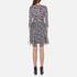 Diane von Furstenberg Women's Irina Dress - Ribbon Rectangles Khaki: Image 3
