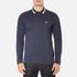 BOSS Green Men's Plisy Long Sleeve Polo Shirt - Blue: Image 1
