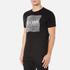 BOSS Green Men's Tee 8 Raised Print T-Shirt - Black: Image 2