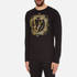 Versace Jeans Men's Large Print Long Sleeve T-Shirt - Black: Image 2