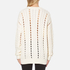 Alexander Wang Women's Crew Neck Cable Long Sleeve Jumper with Intarsia Slits - Bone: Image 3